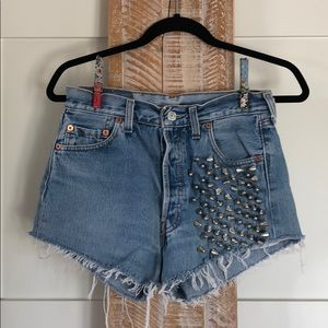 The Ragged Priest Levi Studded Shorts
